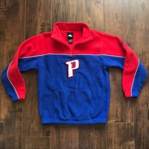 Youth Adidas 1/4 zip Pistons pullover